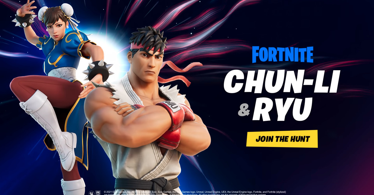 Street Fighter icons Chun-Li and Ryu are joining Fortnite