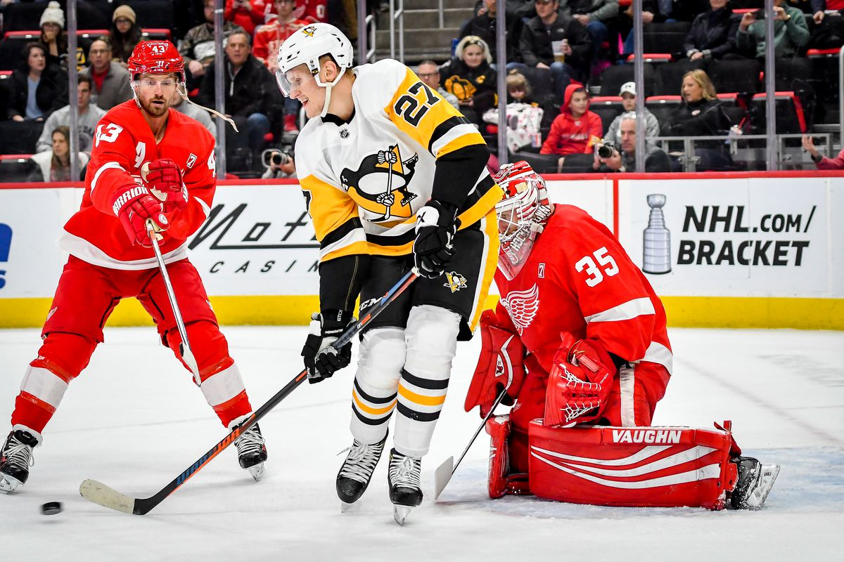 NHL: APR 02 Penguins at Red Wings