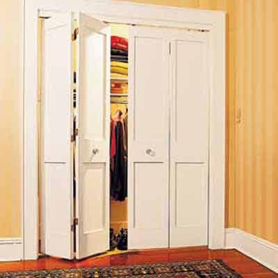 Bifold closet design idea.