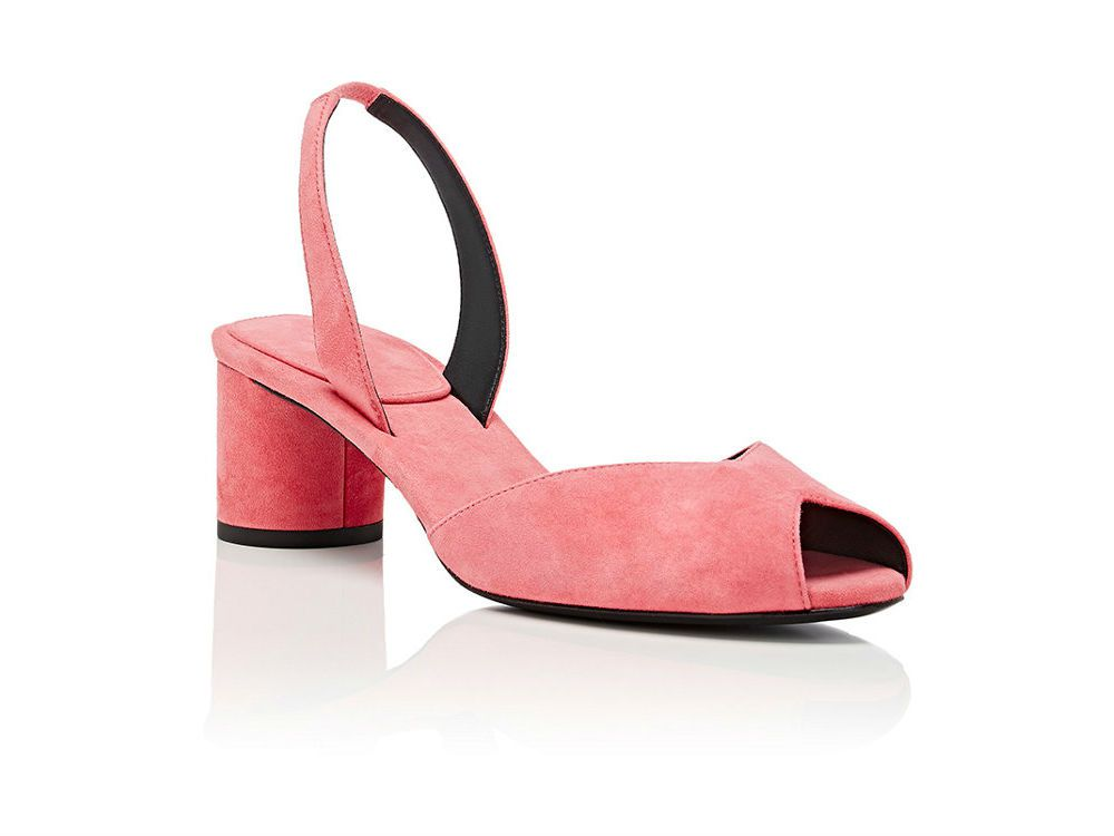 Stella Luna pink suede slingback sandals