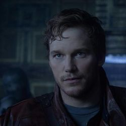 Peter Quill/Star-Lord (Chris Pratt) in Marvel's Guardians of the Galaxy.