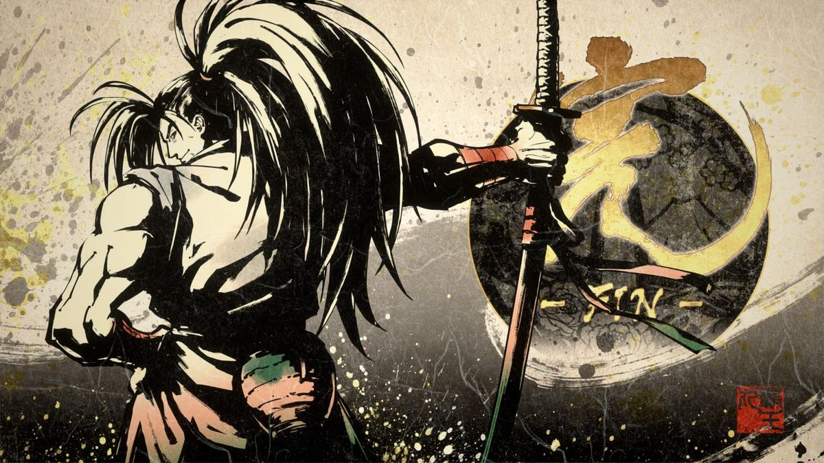 A character from Samurai Shodown looks over their shoulder at the player