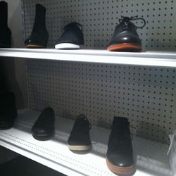 Men's shoes downstairs