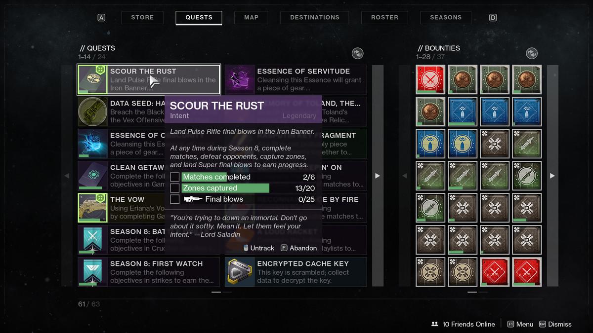 Destiny 2 Iron banner quest