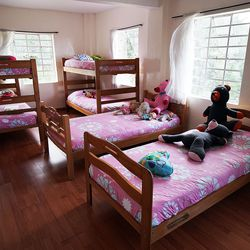 A bedroom is pictured at the Fundacion Nina Maria in Alban, Colombia, on Friday, Aug. 23, 2019. The beds were donated by The Church of Jesus Christ of Latter-day Saints.