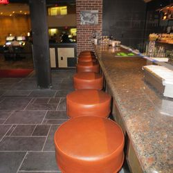 Barstools at the new Public House at the Luxor.