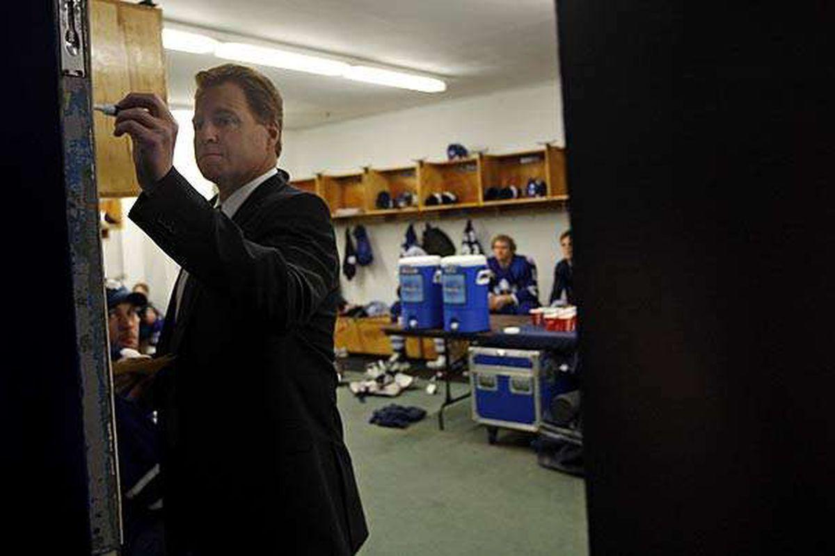 New Phantoms head coach Greg Gilbert in his previous job with the AHL's Toronto Marlies.