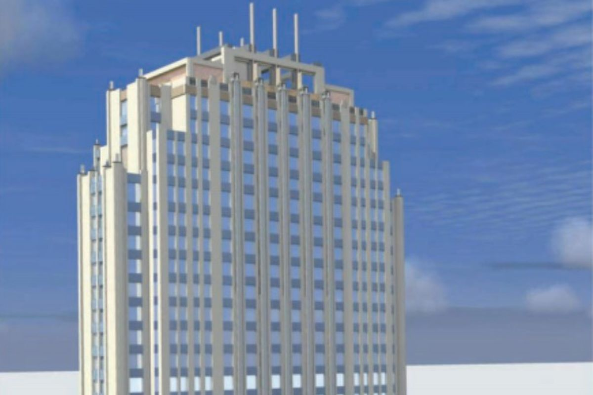 Rendering of proposed hotel