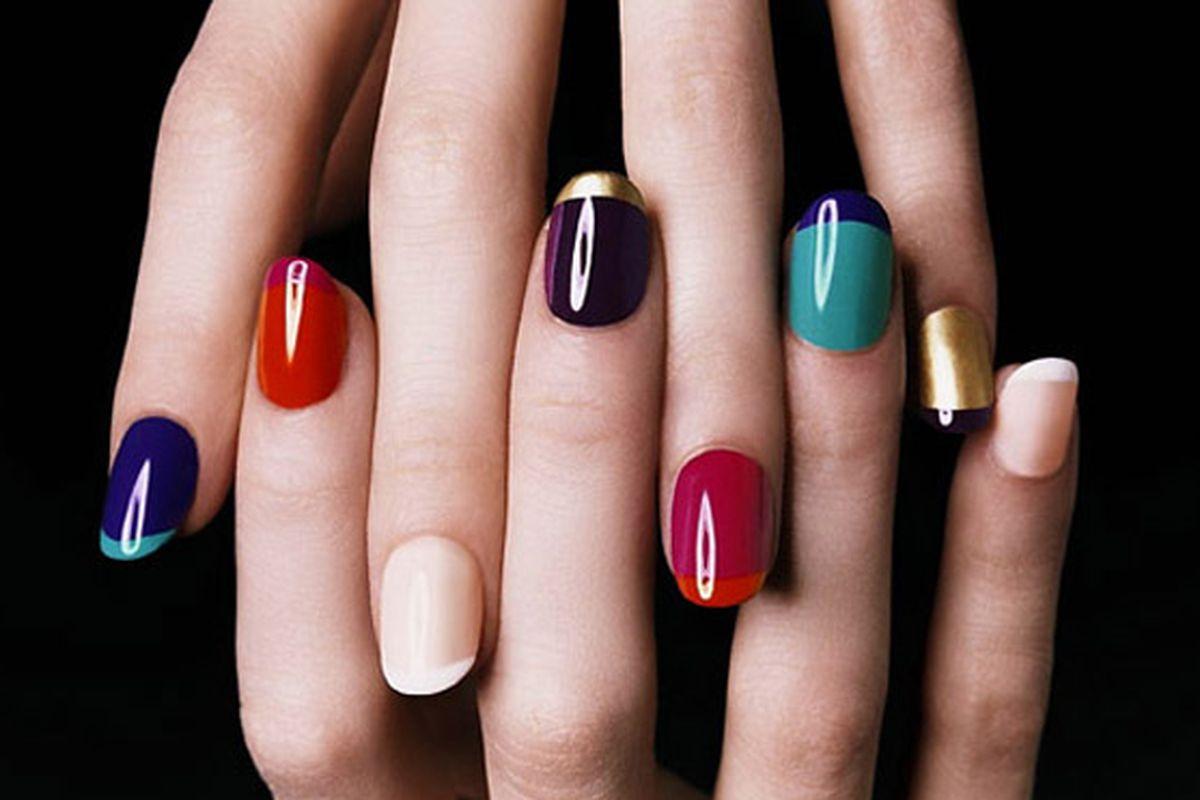 "Image via <a href=""http://www.thebudgetfashionista.com/archive/multicolored-fall-manicure/"">The Budget Fashionista</a>"