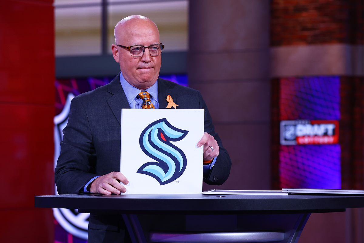 National Hockey League Deputy Commissioner Bill Daly announces the Seattle Kraken #2 overall draft position during the 2021 NHL Draft Lottery on June 02, 2021 at the NHL Network's studio in Secaucus, New Jersey.