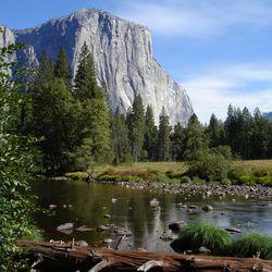 The granite monolith El Capitan, is shown in Yosemite National Park in California.