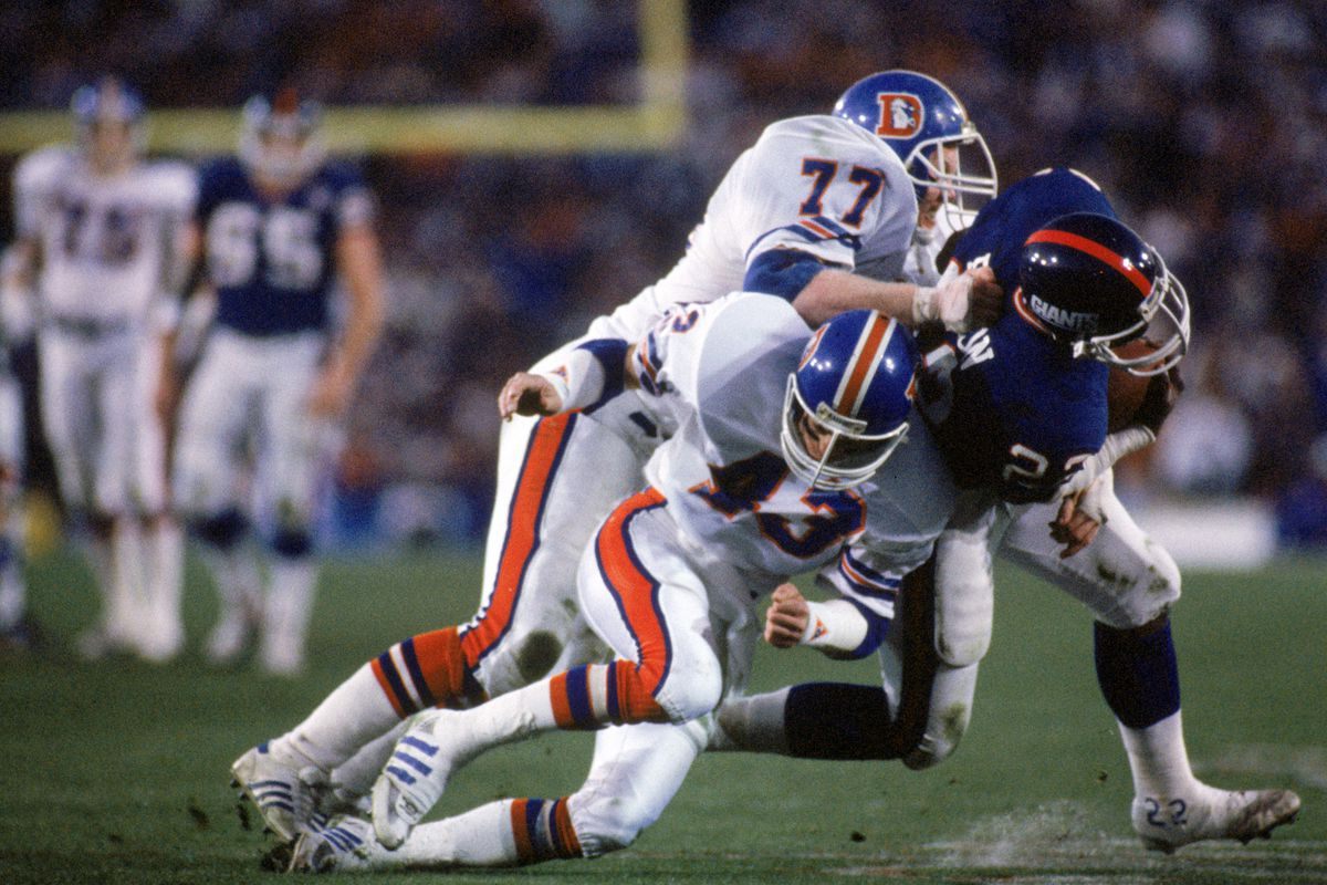 Super Bowl XXI:  New York Giants v Denver Broncos