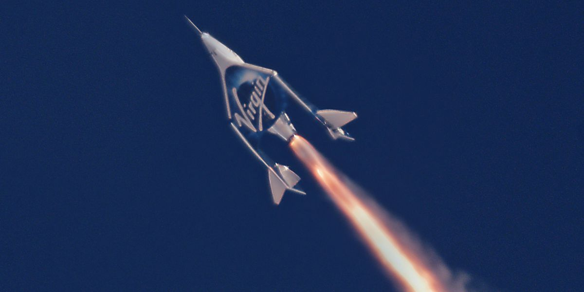 Virgin Galactic's spaceplane makes it to space for the first time