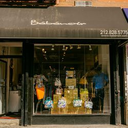 """<b>↑</b><b><a href="""" https://www.facebook.com/pages/Bebenoir-Boutique/106181762769700"""">Bebenoir</a></b> (2164 Frederick Douglass Boulevard) is a neighborhood go-to for standout jewelry, scarves, and clothing. A recent visit turned up chain-trimmed clutche"""