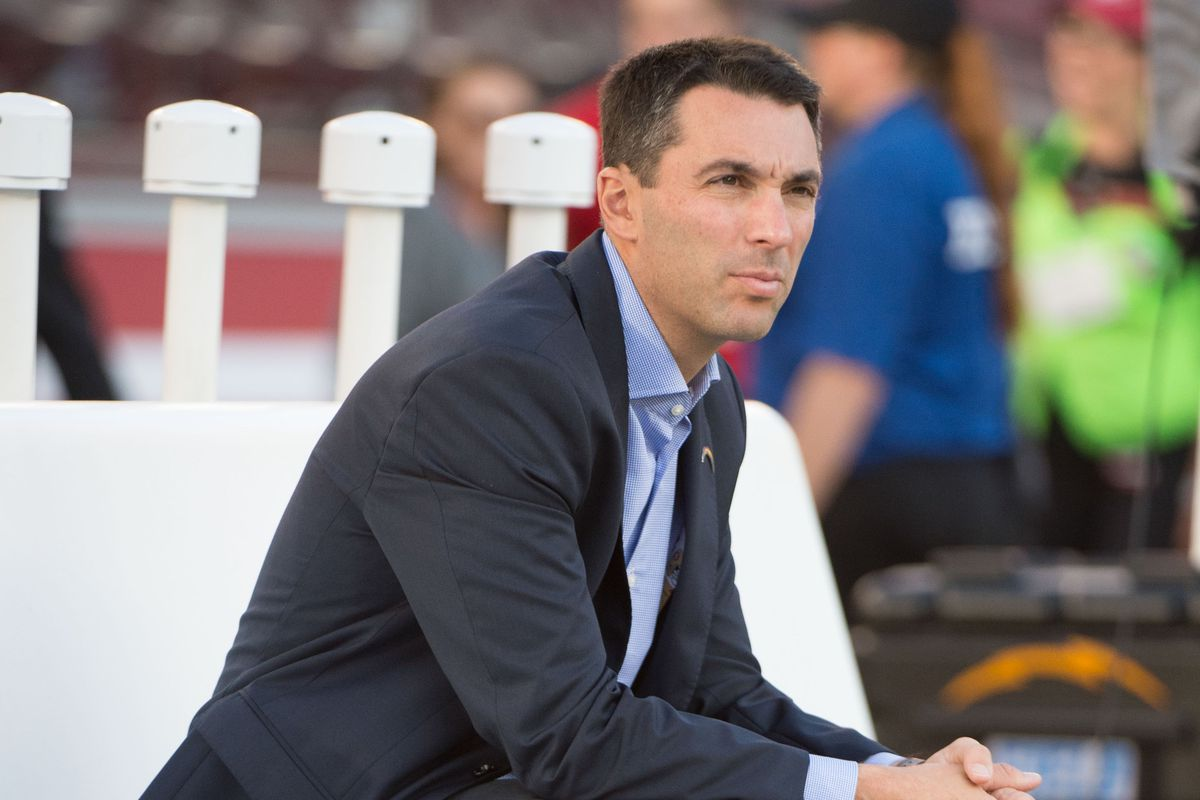 Tom Telesco, nervously waiting for his report card.