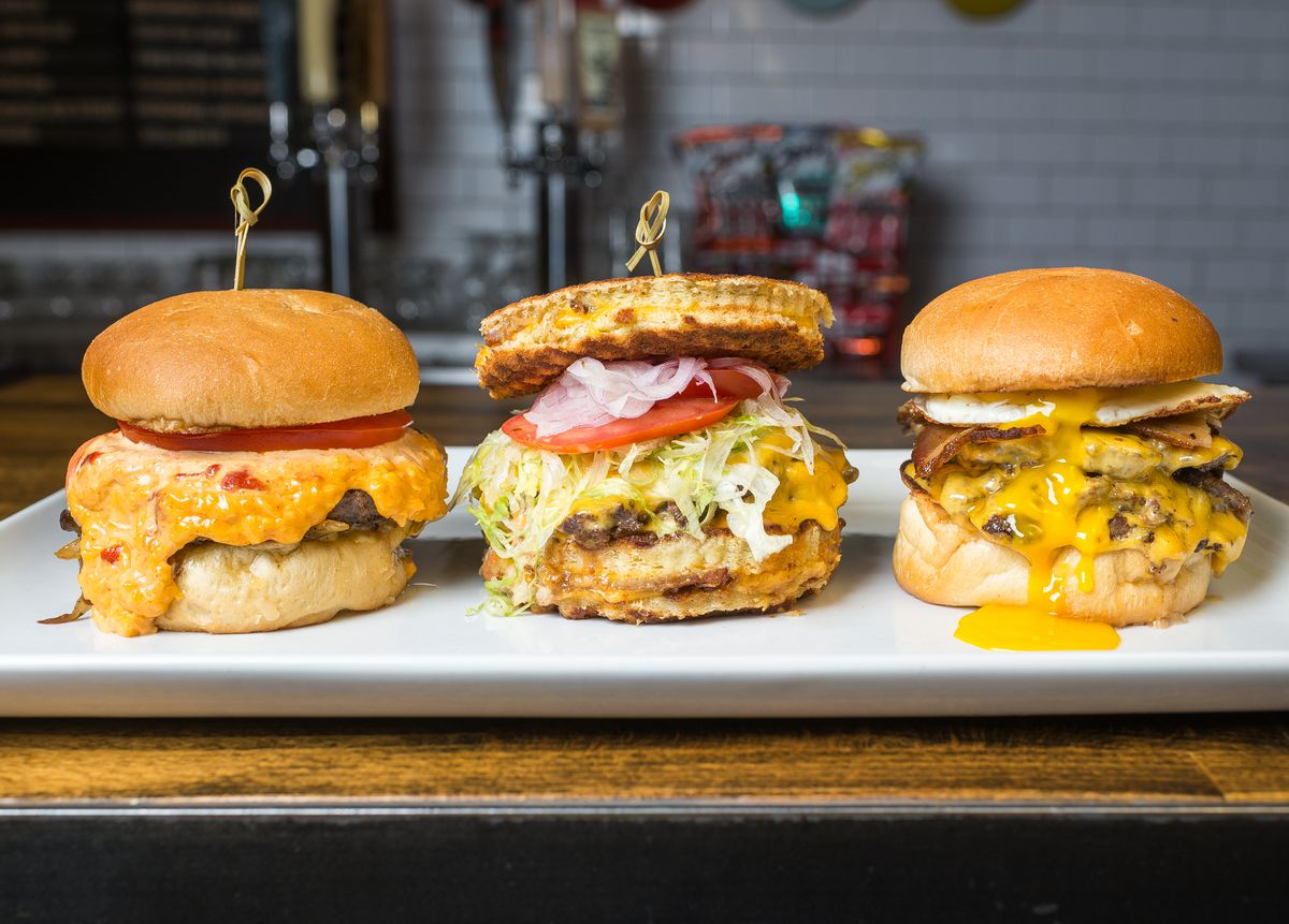 Burgers from Red Apron [Photo: R. Lopez]