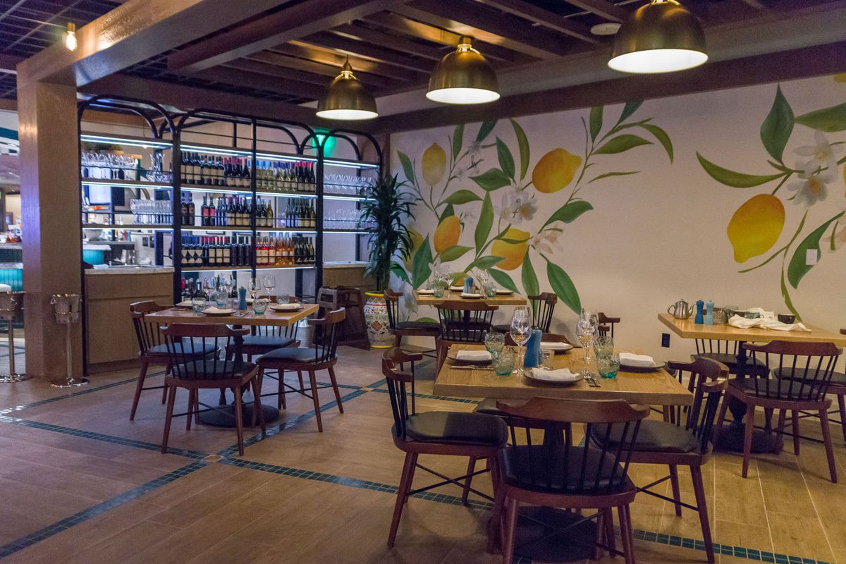 The private dining room at Osteria Costa