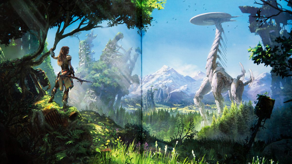 horizon zero dawn u2019s art book is as beautiful as the game