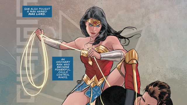Wonder Woman binds Max Lord with the lasso of truth in Wonder Woman #759, DC Comics (2020).