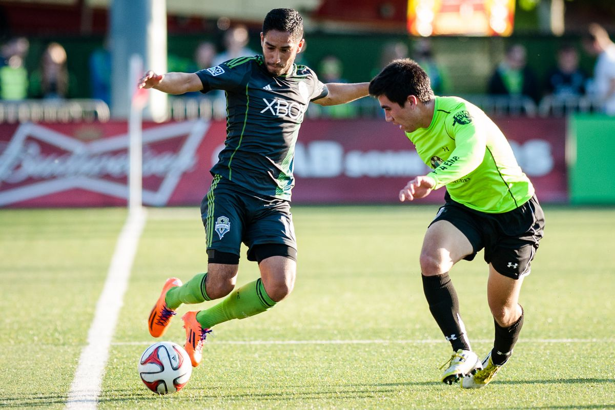 David Estrada had a fine game attacking from the right back spot.