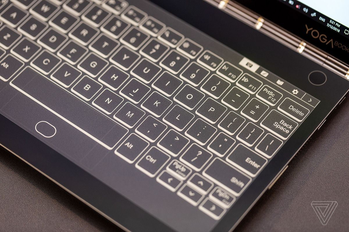 Lenovo's new Yoga Book replaces the keyboard with an E Ink screen