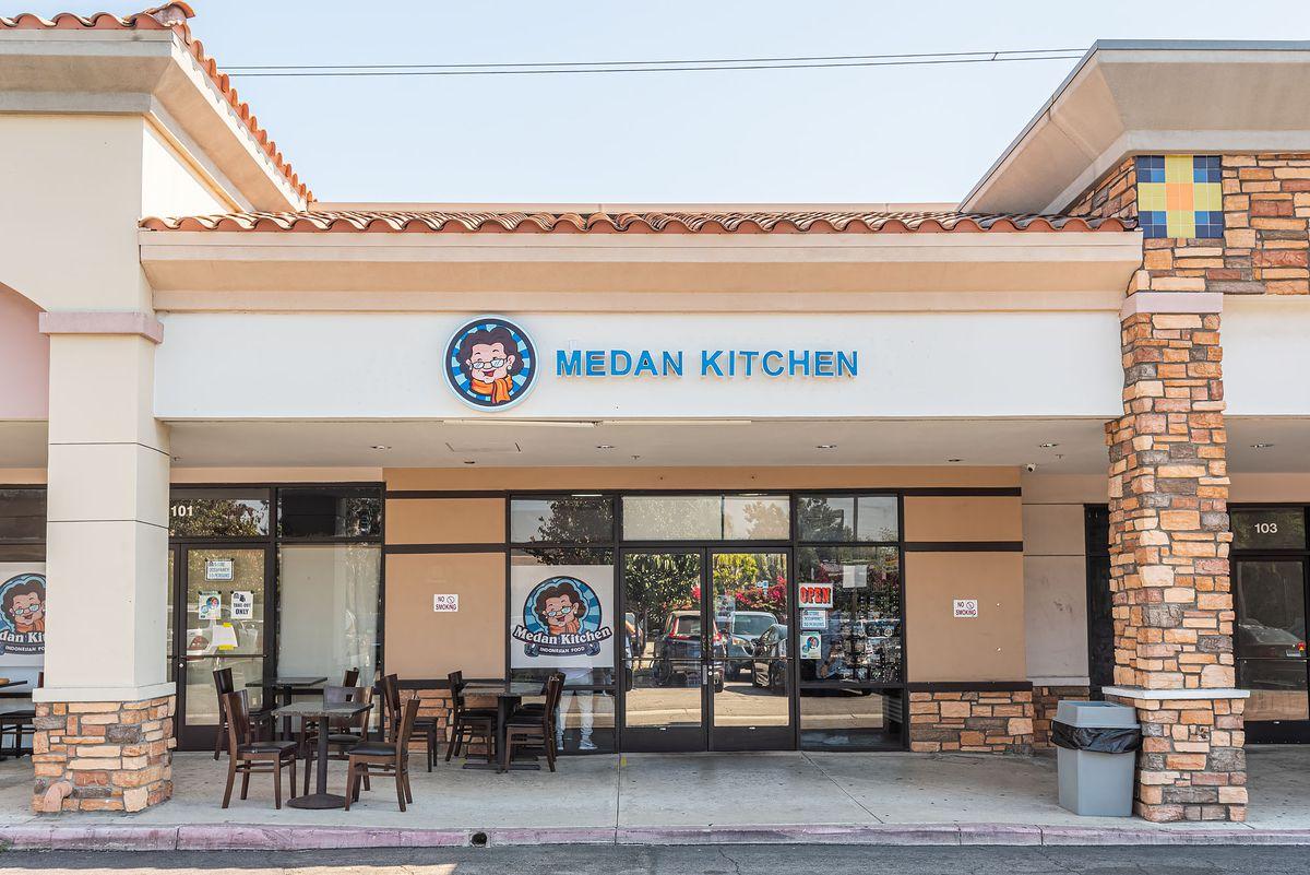 The facade of Medan Kitchen in Rosemead, California.