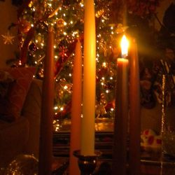 A common feature of the Advent celebration is the Advent wreath, a simple or decorated evergreen wreath with four candles set in the circle, and perhaps a fifth white candle set in the middle. Traditionally, three of the outer candles are purple, the color of royalty, celebrating the imminent coming of the Newborn King, while one of them is pink or rose-colored. On the first Sunday of Advent, which this year is Nov. 27, the first purple candle is lit.