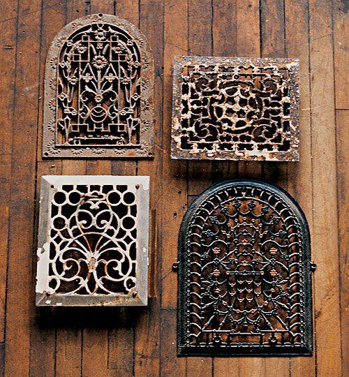 <p>Filigreed florals and geometrics are common in old grilles.</p>
