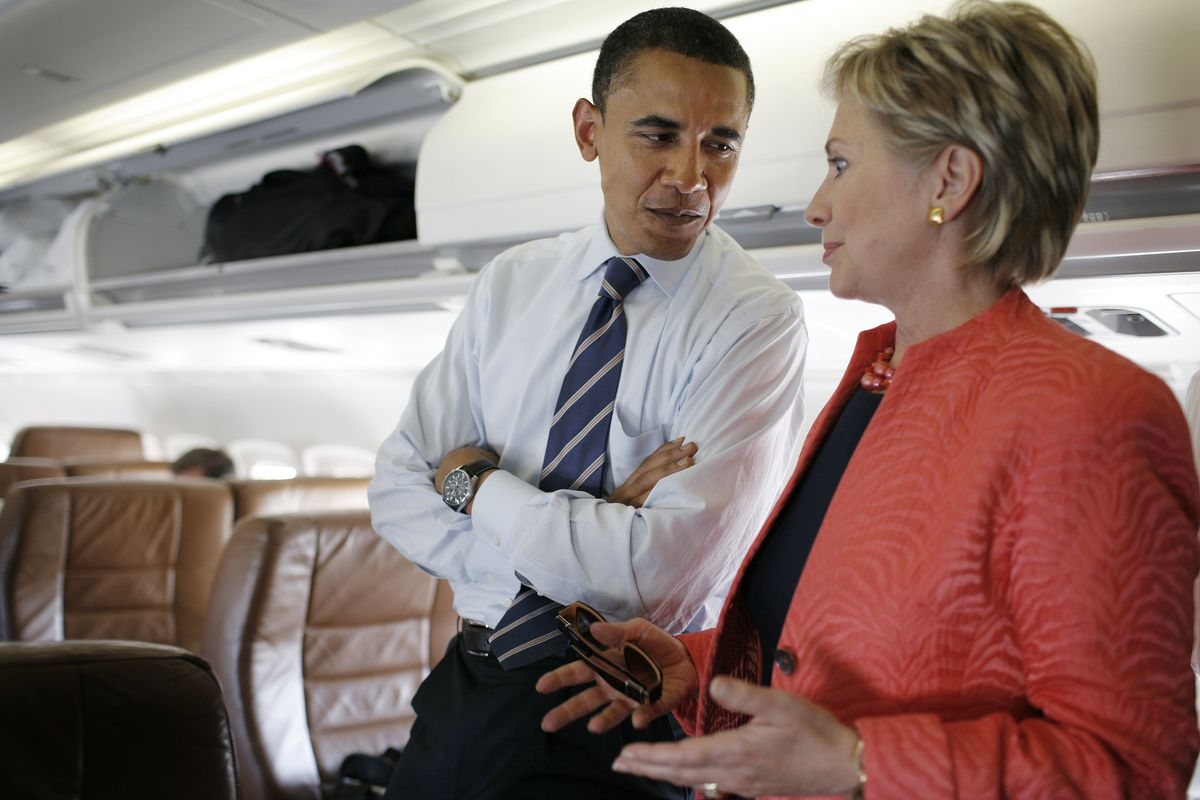 Barack Obama Campaigns With Hillary Rodham Clinton