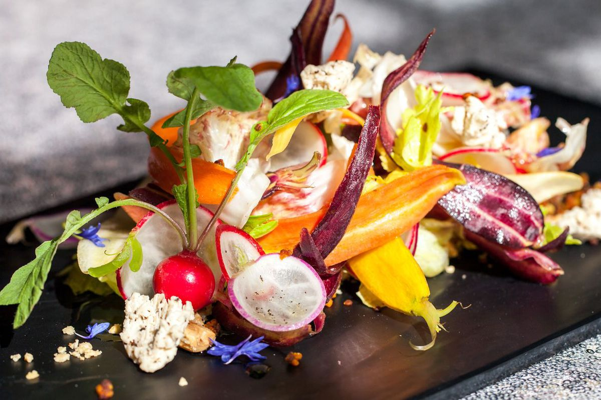 A dish from chef Gavin Stephenson that uses the hotel's rooftop honey.