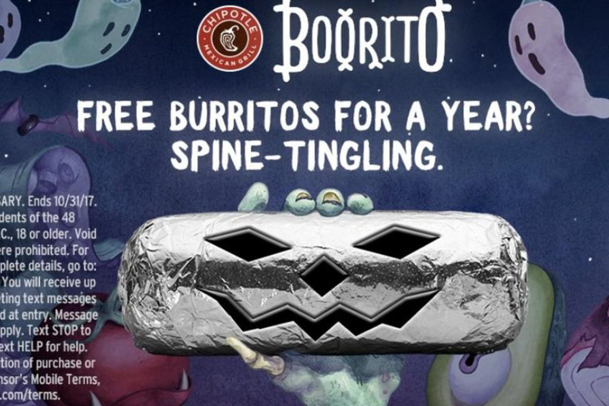 The company announced its Boorito deal is returning, offering customers $3 burritos on Halloween.