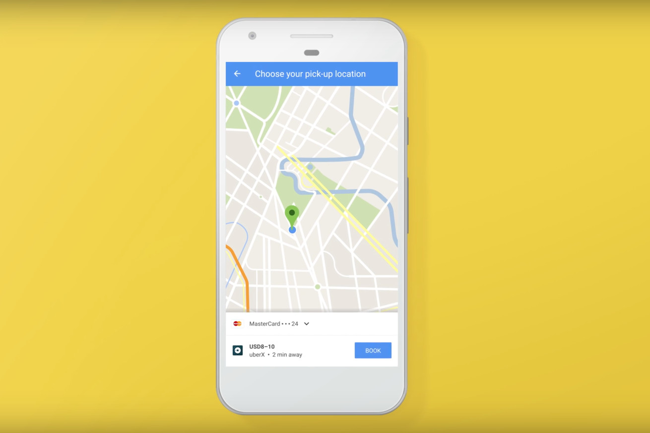 uber booking has been removed from google maps for android