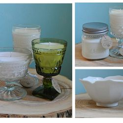 """Hand-poured soy candles from <a href=""""http://www.melostudios.com/"""">Melo Studios</a>."""