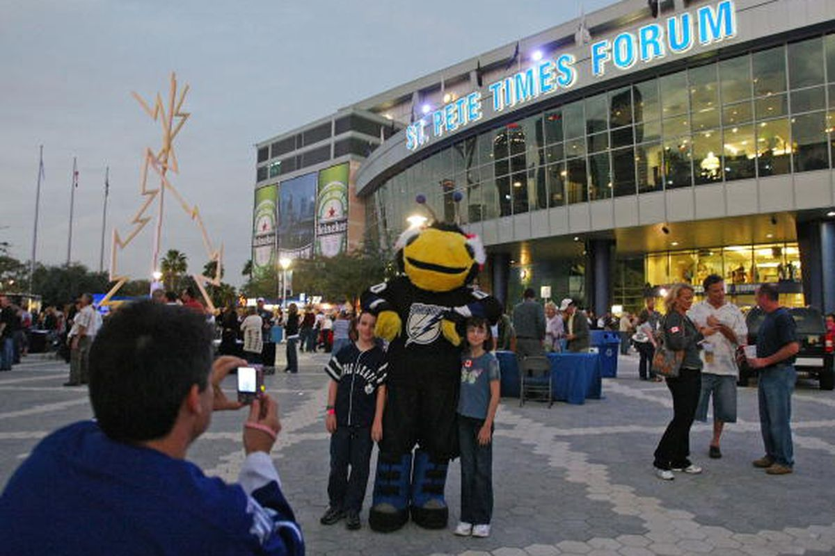 St. Pete Times Forum has changed just a tad compared to this image.. (Bruce Bennett | Getty Images)