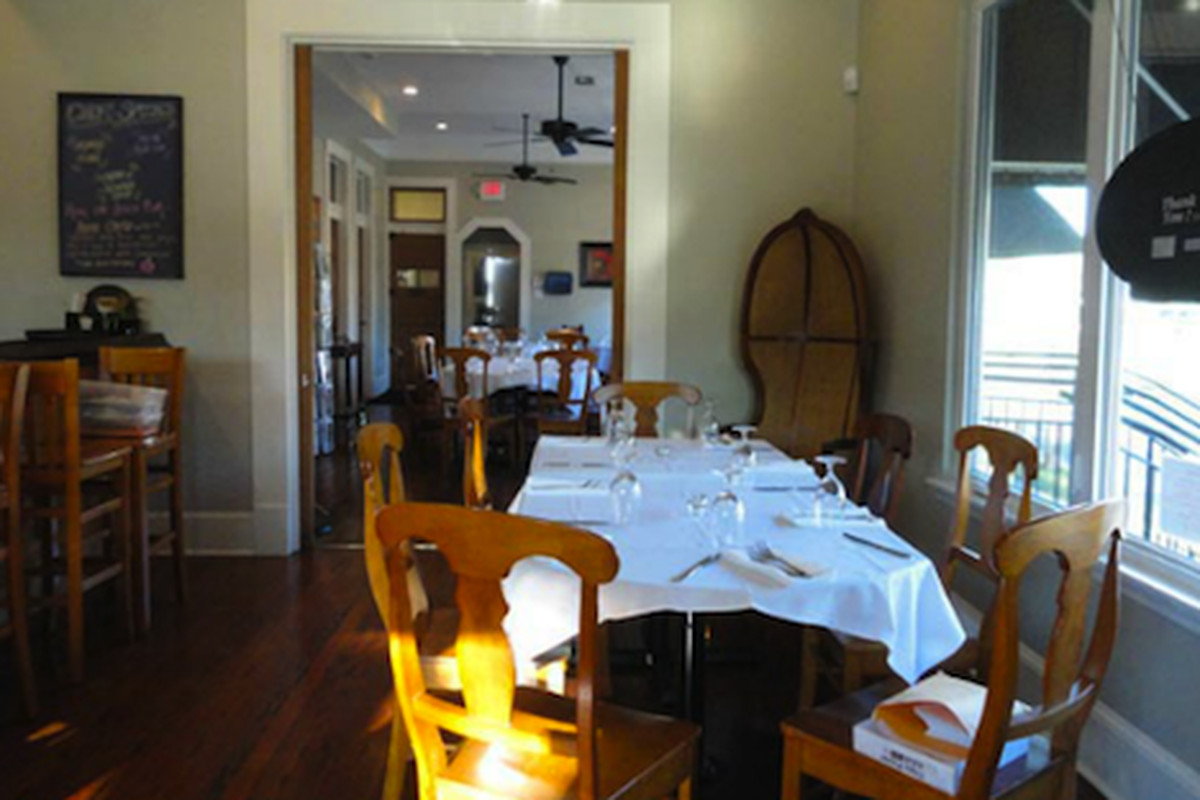 Inside Canal Street Bistro at Eco Café.