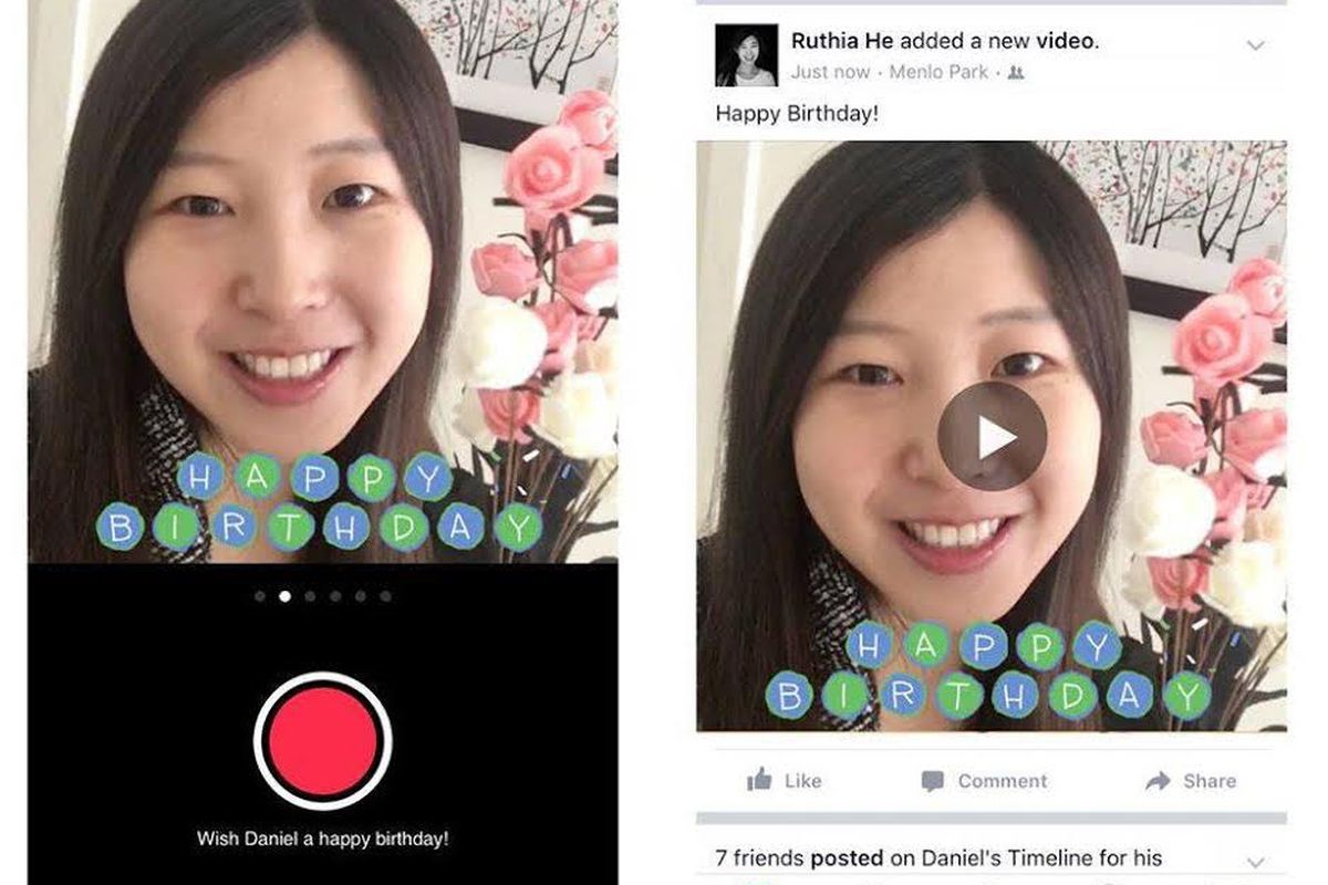 Facebook adds a birthday video cam for sending 15-second