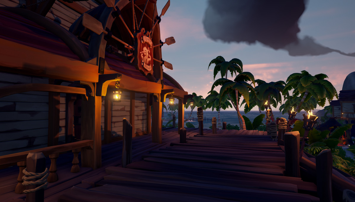 Sea of Thieves - a tavern in an outpost.