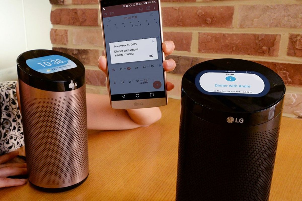 LG's Amazon Echo lookalike now has built-in Alexa - The Verge