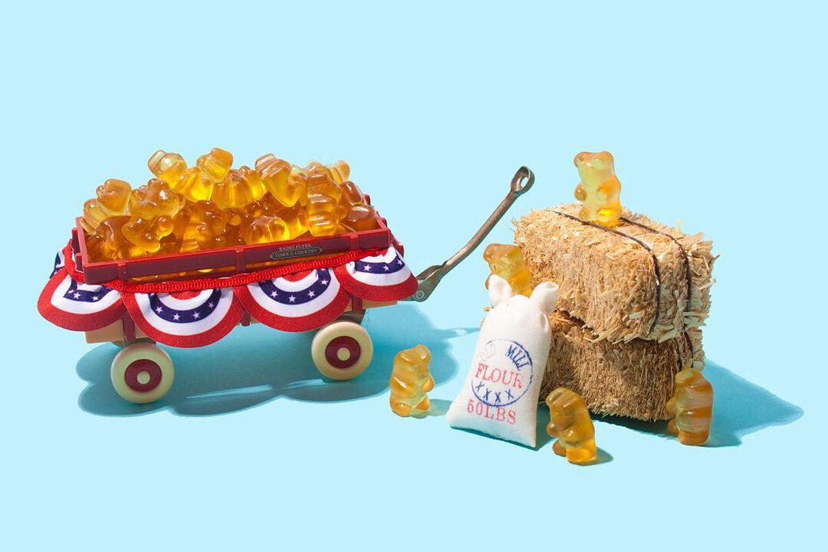 Sugarfina and Tito's Vodka's American Mule gummy bears