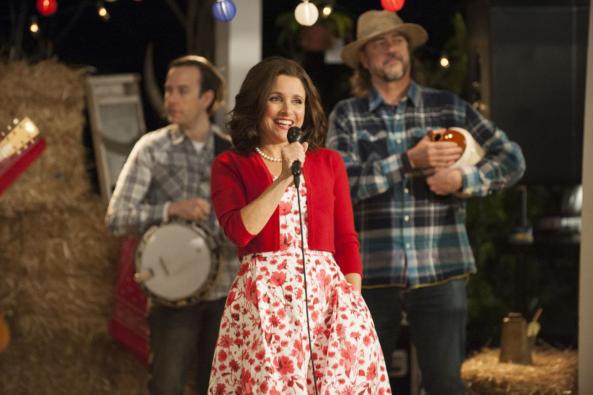 Julia Louis-Dreyfus plays Selina Meyer, who's back on the campaign trail in season seven.
