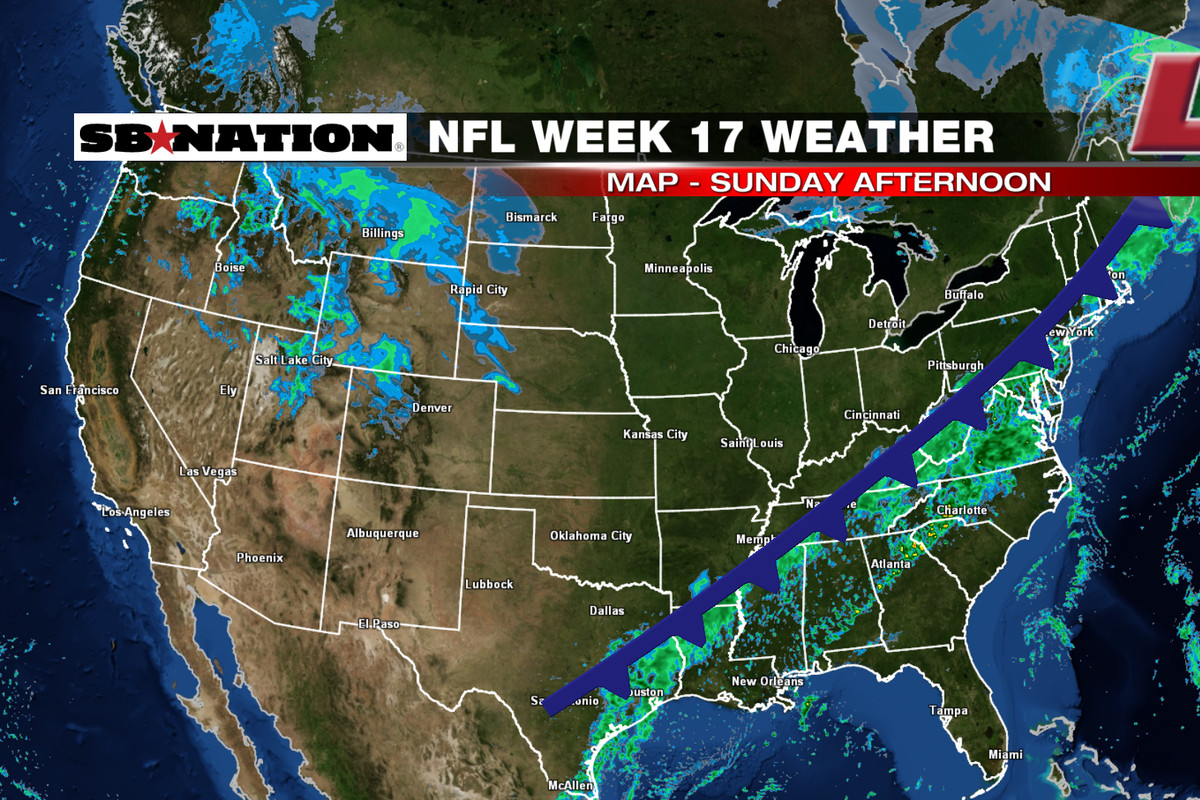 NFL Weather Forecast Week  Rainy Weather In The Eastern United - Map of united states weather forecast