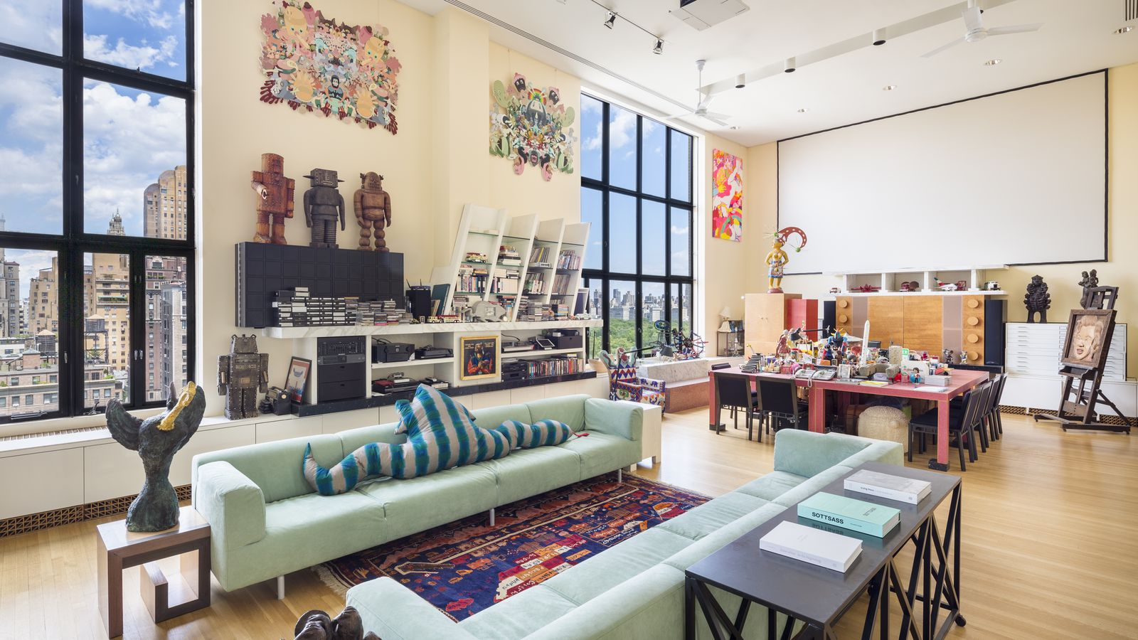 Upper west side penthouse designed by memphis design founder ettore sottsass seeks 19m curbed ny for New york interior design online