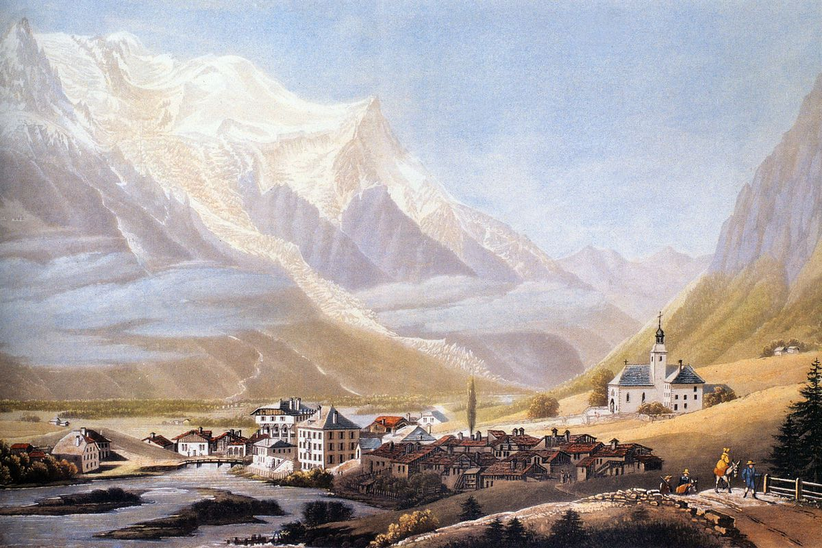 The Valley of Chamonix — and Mont Blanc — as depicted in 1810.