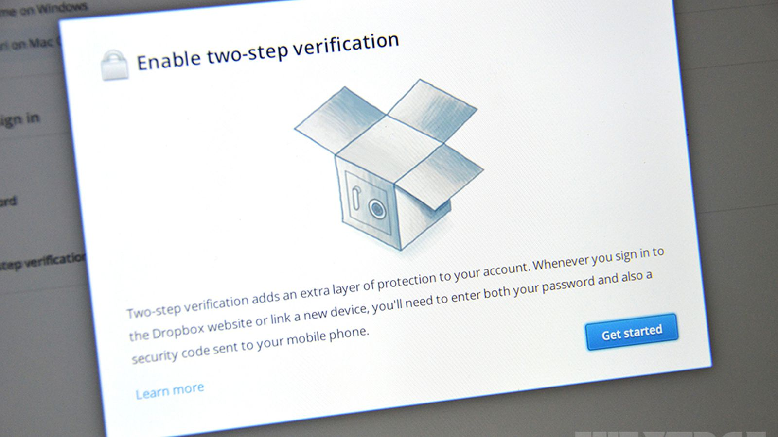 Dropbox two-step verification security option to lock down your ...