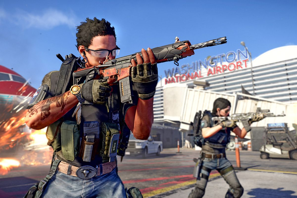 A view of a new exotic weapon on offer in The Division 2's first raid, Operation Dark Hours.