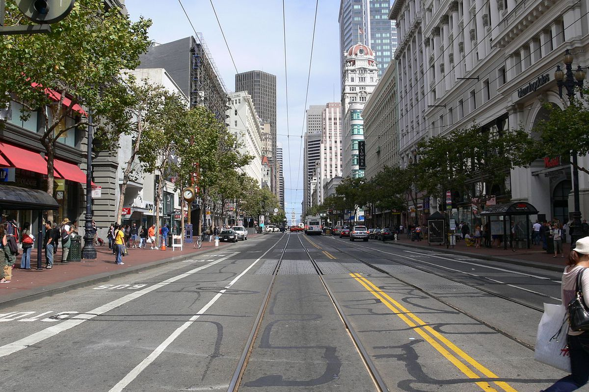 Most dangerous intersection in San Francisco for ... Market Street