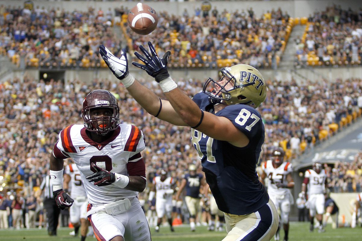 Pitt hopes to capitalize off of their Virginia Tech win (Photo by Justin K. Aller/Getty Images)