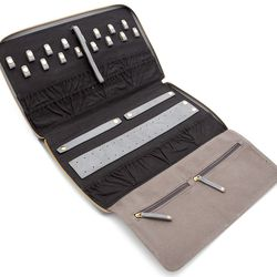 "Thompson jewelry case, $232 at <a href=""http://www.gorjana-griffin.com/gorjana/accessories/travel/thompson-jewelry-case.html""target=""_blank"">Gorjana & Griffin</a>"