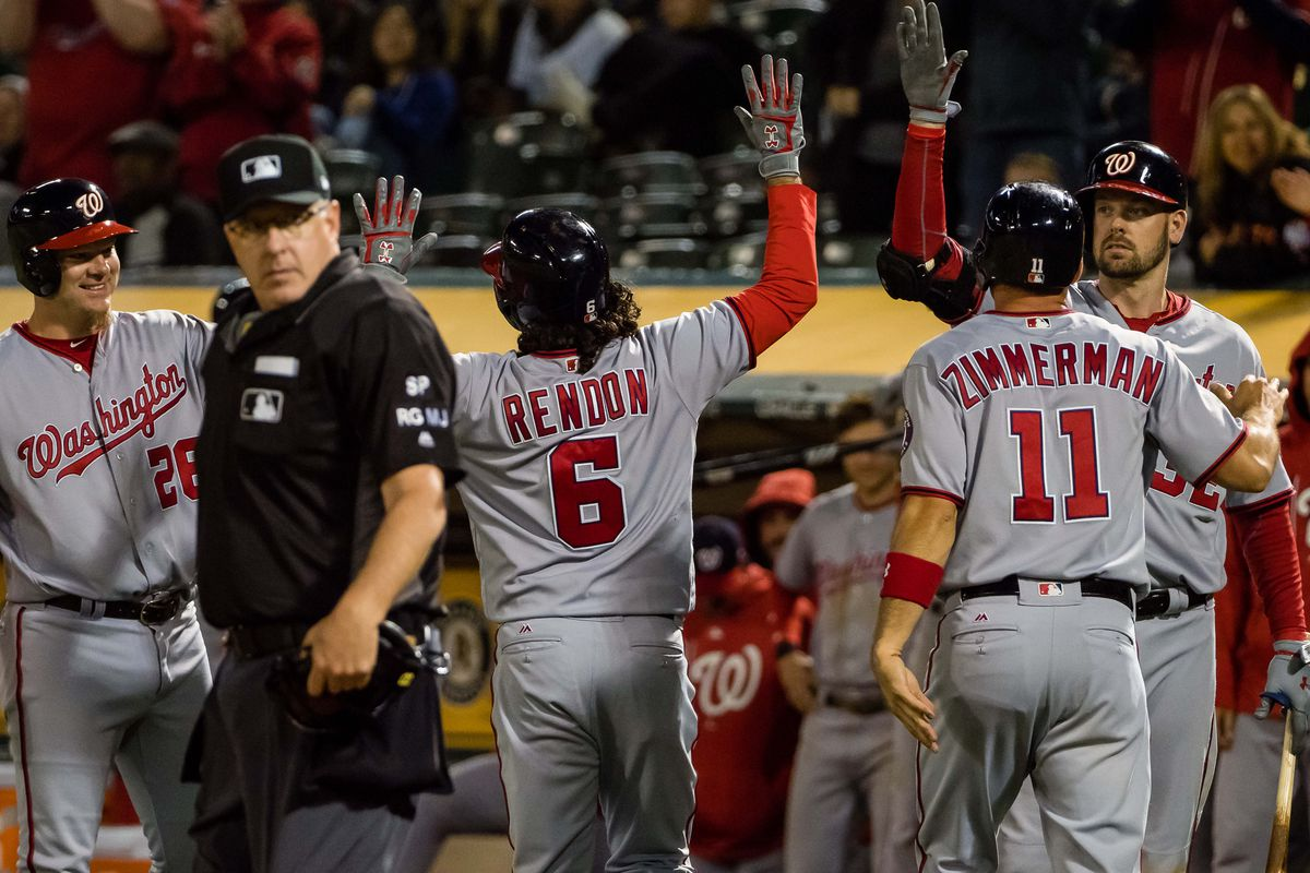 Nationals hold on for win over Athletics