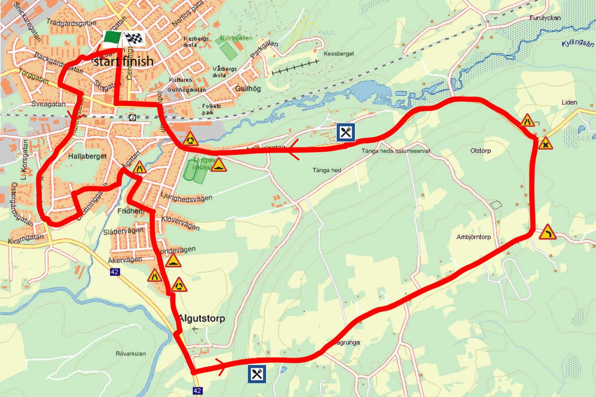 Vårgårda Road Race route